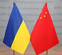 Ukraine China flags